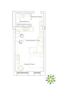 Схема планировки Б